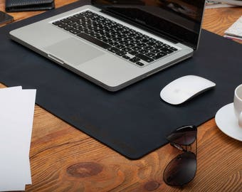 Leaher desk mat double-sided leather desk pad laptop desk mat desk tidy desk organizer laptop desk mat laptop desk pad desk accessories