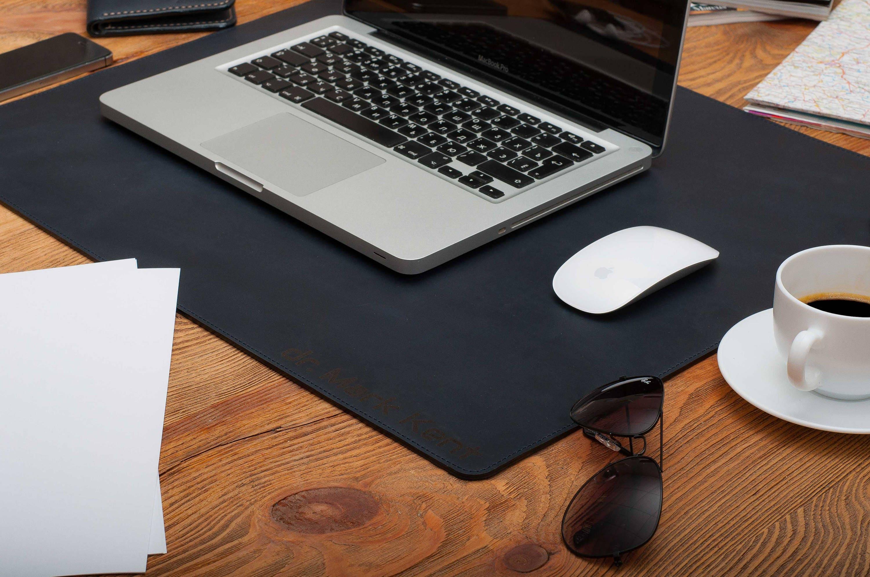 Leaher desk mat doublesided leather desk pad laptop desk mat