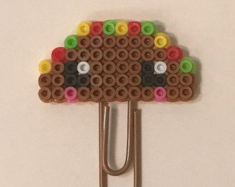 Taco Tuesday Mini Planner Clip | Paper Clips | Bookmark | Planner Accessories | Happy Planner | Charm | Mini Perler Beads| Office Supply