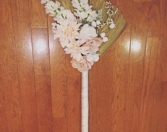 Custom Wedding Broom - Jumping Broom - African American Wedding Broom