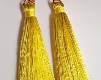 Tassel Earrings with Gold Flecks