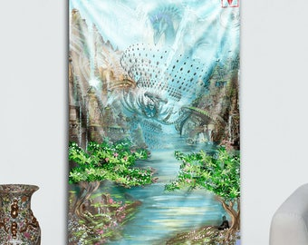 Ascension Dream Tapestry by Asirios