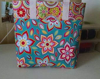 Girls Flowered Tote Bag Library Bag Ladies Tote Preschool Bag