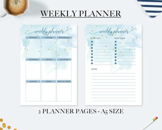 Top Planner settimanale planner stampabile agenda 2018 ricambio CT38