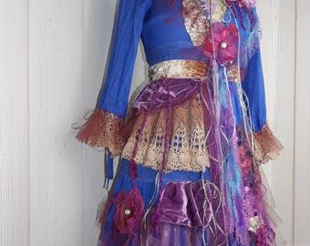 "Delightful Bohemian ""Star Dream"" dress, Boho dress, Unique, Art to wear, Beautiful and feminine"