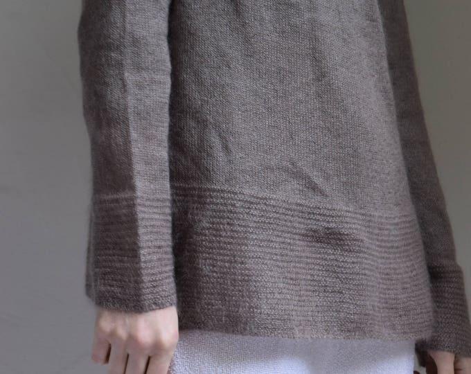 Wool Mockneck Sweater in Mushroom