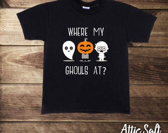 Where My Ghouls At, Halloween Shirts, Toddler Boys Clothes, Boys Halloween Shirt, Cute Monsters