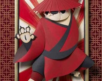 Kung Fu Panda Sculpture