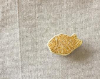 Handmade Taiyaki Fish-Shaped Cake Pin