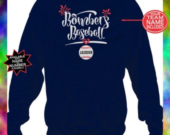 Baseball Hoodie, Baseball Mom Hoodie, Custom Baseball Hoodie with Team Name, Baseball Mom Hooded Sweatshirt, Baseball Team Hoodie