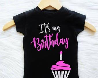 ALL SIZES,STYLES Customizable Colors  It's My Birthday Shirt Girls Birthday Womens Birthday Teen Birthday Third Fourth Fifth Sixth Seventh