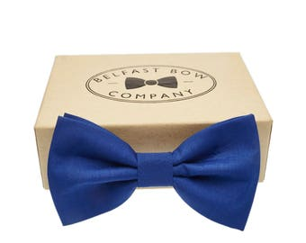 Handmade Bow Tie in Royal Blue - Adult & Junior sizes available