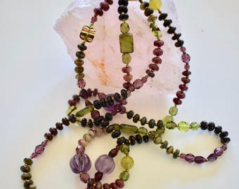Watermelon Tourmaline Calming Necklace