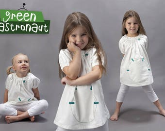 Summer dress - Ivory white 100% organic cotton
