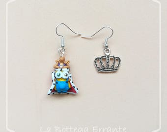 Minions Necklace/Earrings King Bob Crown Crown Minion Fimo polymer Clay despicaable me Despicable Me earrings pendants Nickel nickel free