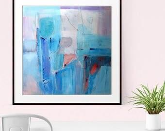 Abstract Wall Art, Abstract Prints, Giclee Print, Fine Art Print, Modern Art, Minimalist Print, Contemporary Art, Blue green Abstract