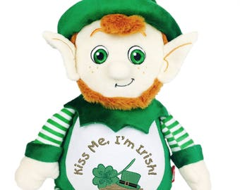 Cubbies Leprechaun Personalized & Embroidered Monogrammed Stuffed Teddie Animal Gift