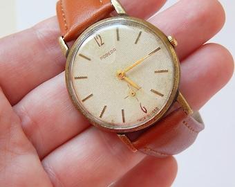 Pobeda Watch Mechanical Watch Soviet Watch Mens Watch Old Watch Zim USSR 60's Soviet Russian Watch mens vintage watch mens gift for men