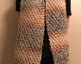 Knit Chunky Multicolor Scarf