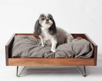 luxury pet furniture. modern pet bed wood dog midcentury custom luxury furniture