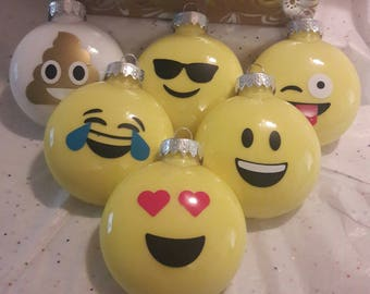 Emoji Ornament Set