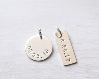 Wedding date jewelry Etsy