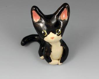 Tuxedo Cat Figurine