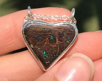 Australian Boulder Opal Necklace