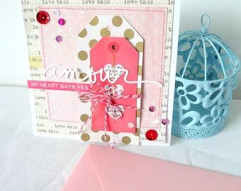 "Wedding card ""Love"" 2"