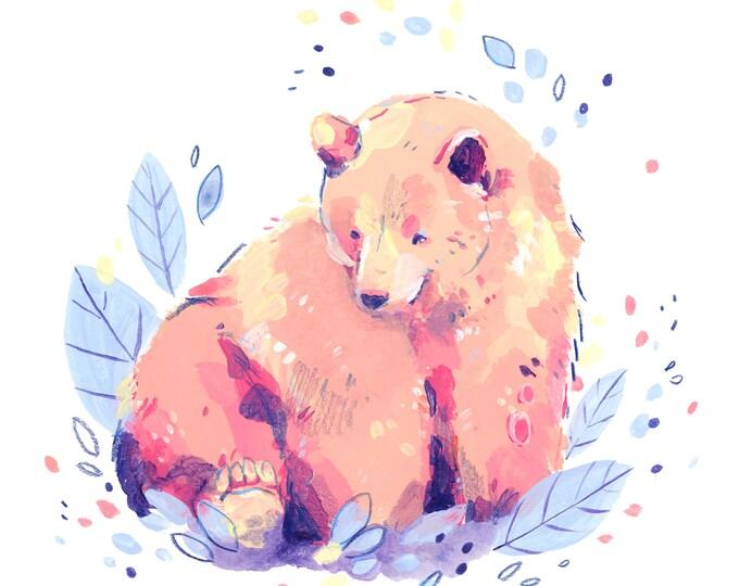 Confetti Bear -- Art Print