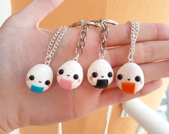 Onigiri family Friendship necklaces Couple BFF best friends Valentine's day
