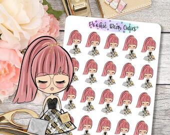 Cute Dolls- Shopping Stickers -065