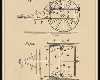 Tilting Ammunition Wagon Patent #808855 dated January 2, 1906.