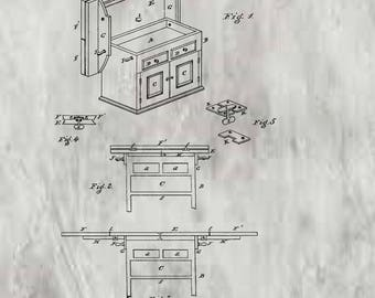 Kitchen Table Patent #229533 dated July 6, 1880.