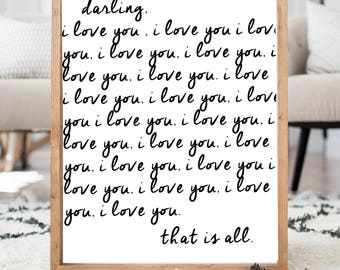 Darling I love you READ ITEM DETAILS