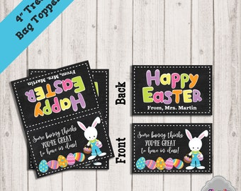 Student treats etsy easter treat bag toppers printable 4 inch teacher sunday school bunny negle Gallery