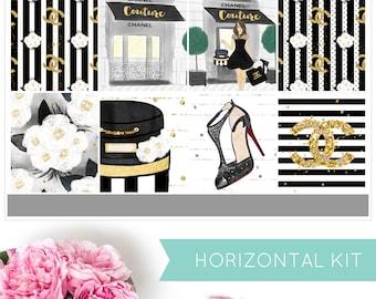 Material Girl | HORIZONTAL KIT | Weekly Kit | Erin Condren | Planner Stickers