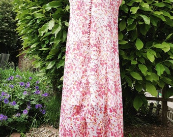 Vintage summer dress size 16 floaty light floral print festival outfit ideas