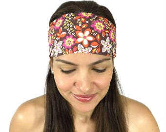 Yoga Headband Workout Headband Floral Headband Fitness Headband No Slip Wide Headband Boho Beach Headband Spring Fashion Women Turban S86