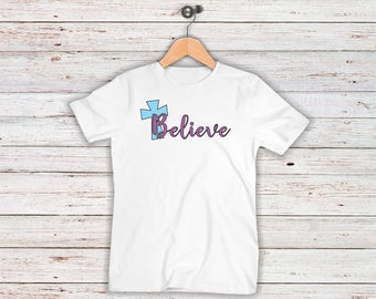 Believe Iron On Decal| Easter Cross| Easter Iron On Decals| Diy Iron On| NEXT DAY SHIPPING!!