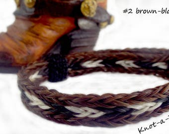 Horsehair bracelet, hand-braided, horsehair bracelet, easy adjustable, fits most sizes, Natural colored horsehair,  Perfect horse lover gift
