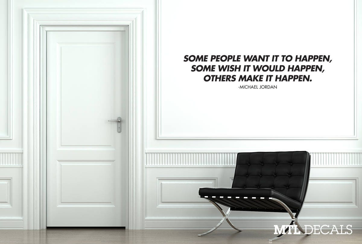 Others make it happen wall decal quote michael jordan wall zoom amipublicfo Choice Image