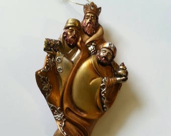 Three Wise Men Vintage Resin Ornament.