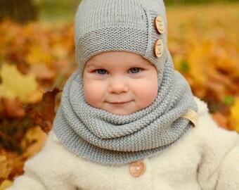 Toddler Boy Beanie, Toddler Girl Knit Hat, Toddler Winter Hat, Girl Hat With Pompom, Merino Wool Boy Hats, Toddler Boy Hat, Toddler Girl Hat
