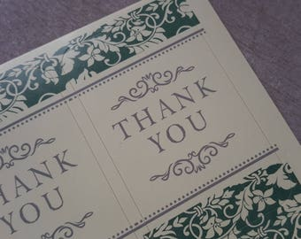 Board of 6 vintage stickers thank you, gift wrapping, thank you Stickers stickers