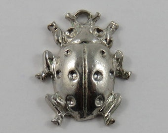 Beetle Sterling Silver Vintage Charm For Bracelet