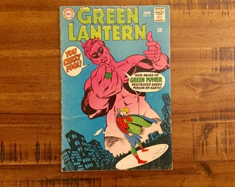 1968 Green Lantern #61 Comic Book / VG-GD / Alan Scott / DC Comics / Earth Two / Captain Challenge