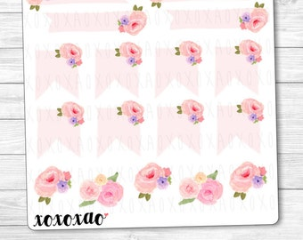 C003 | Floral Banner Stickers