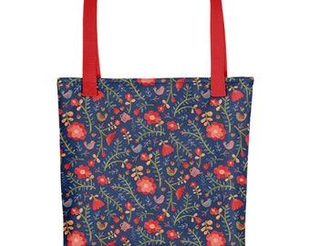 Rose Tree Flower Tote bag   Bag   Studio Carrie   Gift