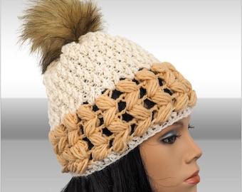 Crochet beanie hat with pompom crochet hats pattern easy crochet hat patterns hat with pompom for women hat beanie patterns slouchy beanie